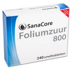 SanaCore Foliumzuur 800 240 smelttab