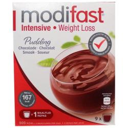 Intensive pudding chocolade 9 stuks