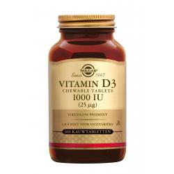 Vitamin D-3 25 µg/1000 IU Chewable Tablets