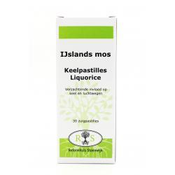 Reformhuis Steenwijk IJslands mos - Keelpastilles Liquorice 30 zuigpast.