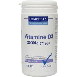 Vitamine D3 3000 IE 75 mcg 180 caps