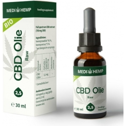 CBD Olie Raw 2,5% 30 ml