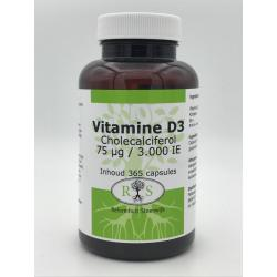 Vitamine D3 Cholecalciferol 75 ug / 3000 IE 365 caps