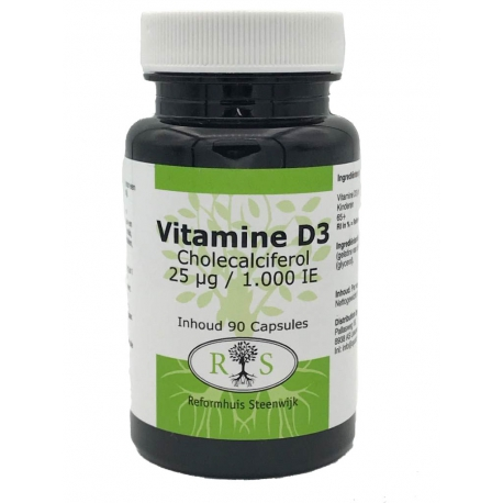 Vitamine D3 Cholecalciferol 25 ug / 1000 IE 90 caps